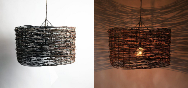 Wrapped - Wire, Rattan and Cocos Palm 810 x 460 Weight 8kg