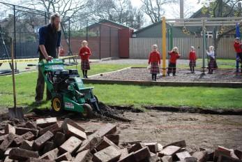 preparing the playground